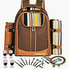 Picnic Backpack Apollo Walker Cooler Blanket Plates Utensils Storage 4 Person