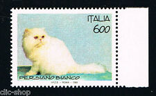 ITALIA IL FRANCOBOLLO ANIMALI GATTO PERSIANO BIANCO 1993 nuovo**