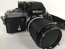 Nikon F2 35mm SLR Film Camera with Nikkor 43-86mm Zoom Lens Samigon 52mm & Case