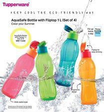 Tupperware Aqua Safe Eco Sport 1000 ml, 1 Litre, 32Oz Flip Top New Water Bottle