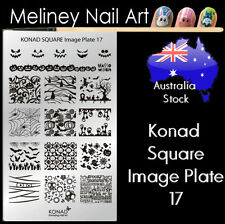 Konad Square Image Plate 17 for Stamping Nail Art Transfer Stencils Halloween