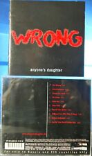 Wrong by Anyone's Daughter (CD, 2004, Tempus Fugit, Russia)