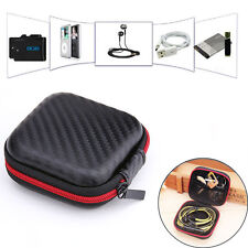 Zip Carrying Storage Bag Pouch Hard Case For Earphone Headphone Earbud S  mi