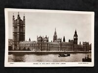 Vintage Real Photo Postcard #TP1700: Houses Of Parliament From River London