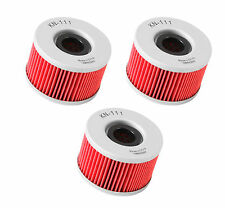 K&N OIL FILTER HIGH FLOW REPLACEMENT 3 PACK HONDA FOREMAN 500 RUBICON 2001-2014
