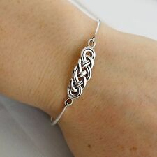 Celtic Knot Bangle Bracelet - 925 Sterling Silver - Infinity Love Bracelets NEW