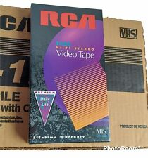 RCA T-120 6 Hour Premium Blank VHS Video Cassette Tapes SEALED 10 Pack Case