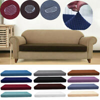 1-4 Seats Washed Waterproof Sofa Seat Cushion Cover Couch Stretchy Slipcovers