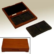 2 / 4 Graded Coins Safe Deposit Display Wood Slabs Box Save Space Collector Gift