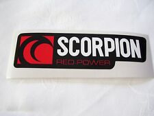 Scorpion Red Power Decal Sticker Vinyl ~ Heat Resistant