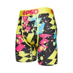 PSD Underwear Men's Pop Bolts Boxer Brief Black