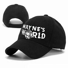 Wayne's World Adult Adjustable Black Baseball Hat Cap