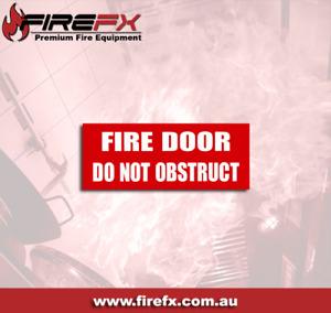 Door Do Not Obstruct Sign