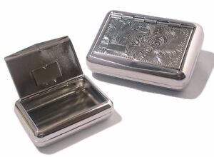 TOBACCO  Tin with Paper Holder Ornate Design  IDEAL GIFT