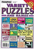 Penny Press Magazine Variety Puzzles And Games Fill In Keyword Logic Problems