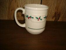 Longaberger Christmas Holly 12 Ounce Mug, Usa Made, Never Used