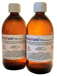 Rubbing Alcohol sanitiser - by Virumate - 70% Isopropanol - 2 x 500ml bottles)