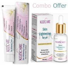 Kozicare KoJic Acid Arbutin Glutathione Skin Whitening & Lightening Cream &Serum
