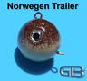 Norwegen Trailer, 50g 70g 90g 110g 140g 170g Sea Trailer, Kugelblei mit Öse
