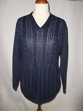 BETTY BARCLAY CABLE KNIT  JUMPER/ TUNIC  SIZE  UK  14