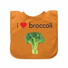 green sprouts Favorite Food Absorbent Baby Bib, Orange Broccoli 9/18 Months