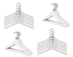 Kids / Childrens White Wooden Coat Hangers Garment Clothes Coat Hanger