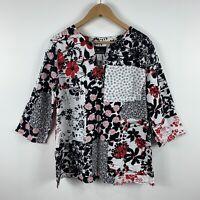 Womens Vintage Blouse Top Size 14 Floral Multicoloured 3/4 Sleeve Australia