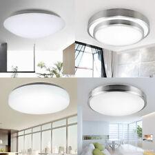 12-24W LED Rund Deckenleuchte Deckenlampe Flur Diele Küchen Aluminium Warmweiß