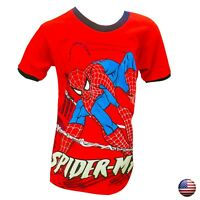 SPIDER-MAN SUPERHEROE AVENGERS KIDS BOYS SHORT SLEEVE CHILDREN CREW NECK T-SHIRT