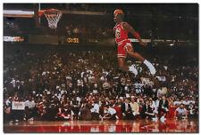 "Michael Jordan Famous Foul Line Dunk Vintage Sport Poster 24x36"" Room Wall Decor"