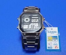 New CASIO Japan Watch Standard AE-1200WHD-1A Mens Water Resist World Time F/S