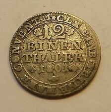 1801 MC German states (Brunswick-Wolfenbüttel) 1/12 thaler