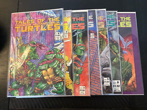 Mirage 1987 EASTMAN AND LAIRDS TALES OF THE TEENAGE MUTANT NINJA TURTLES 1-7 LOT