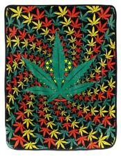 New Pot Leaf Marijuana Thick Plush Throw Gift Blanket Rasta Spiral Hippie SOFT