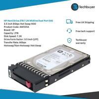 "HP Hard Drive 2TB 7.2K Midline Dual Port SAS 3.5"" 6Gbps Hot Swap HDD - AW555A"