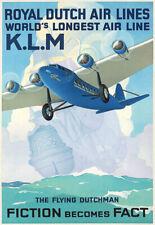 Art Print  KLM Royal Dutch Flying Dutchman  Air Lines  Plane poster