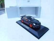 PORSCHE 911 GT3 RS  BLACK / ORANGE   MINICHAMPS  M BOX 1:43  DIECAST