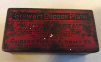 ANTIQUE STEWART CLIPPER PLATE TIN WITH CLIPPER PLATE CHICAGO FLEXIBLE SHAFT CO