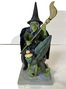 Bradford Exchange Wicked Witch & Flying Monkey Figurine Wizard of Oz Limited