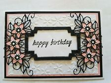 Handmade Card Happy Birthday Flowers Pink Girl Stampin Up