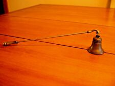 VINTAGE HUDSON PEWTER LIBERTY  BELL CANDLE SNUFFER