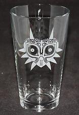 Legend of Zelda Majora's Mask Logo Custom Etched Pint Glass
