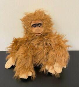 "Vintage Hosung Orangutan Monkey 14"" Hand Puppet w/Squeaker - 1994 - EUC"