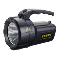Rechargeable Torch 10W LED Work Spotlight Hand Flash Night Bright Lamp Handle