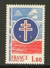 TIMBRE 1885 NEUF XX LUXE - CROIX DE LORRAINE - 30 ANS ASSOC. DES FRANCAIS LIBRES