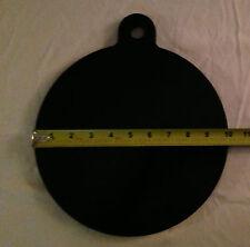 """(4) 10"""" AR500 Steel Gong Shooting Target 3/8 One Hole See Video Bullseye Metals"""