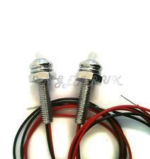 Classic Mini Numéro Plaque Lampe logement Objectif vis PMZ206 x4 Boot Couvercle Lumière 1GN6