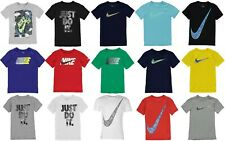 New 2019 Boys Nike Cotton Swoosh Just Do It T Shirt Top Size Age 7-15 FROM £9.99