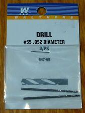 Walthers #947-55 Drill Bit (2 Pack) #55 .052 Diameter