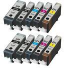 10 Pack PGI-220 CLI-221 Ink Cartridges for Canon PIXMA MP560 MP620 MP640 Printer